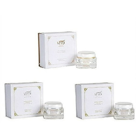 Vivo Per Lei Dead Sea Minerals Facial Skin Care Treatment With Day Cream + Cell Renewal Night Cream + Facial Peeling Set