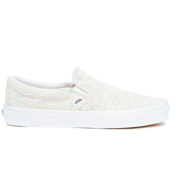 Vans Slip-On Unisex/Adult Shoe Size Mens 6/Womens 7.5 Athletics VN0A4U38WN5 ((Rainbow Jersey) Multi/True White)