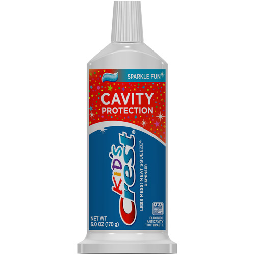 Crest Kid's Cavity Protection Neat Squeeze Sparkle Fun Flavor Toothpaste, 6 oz