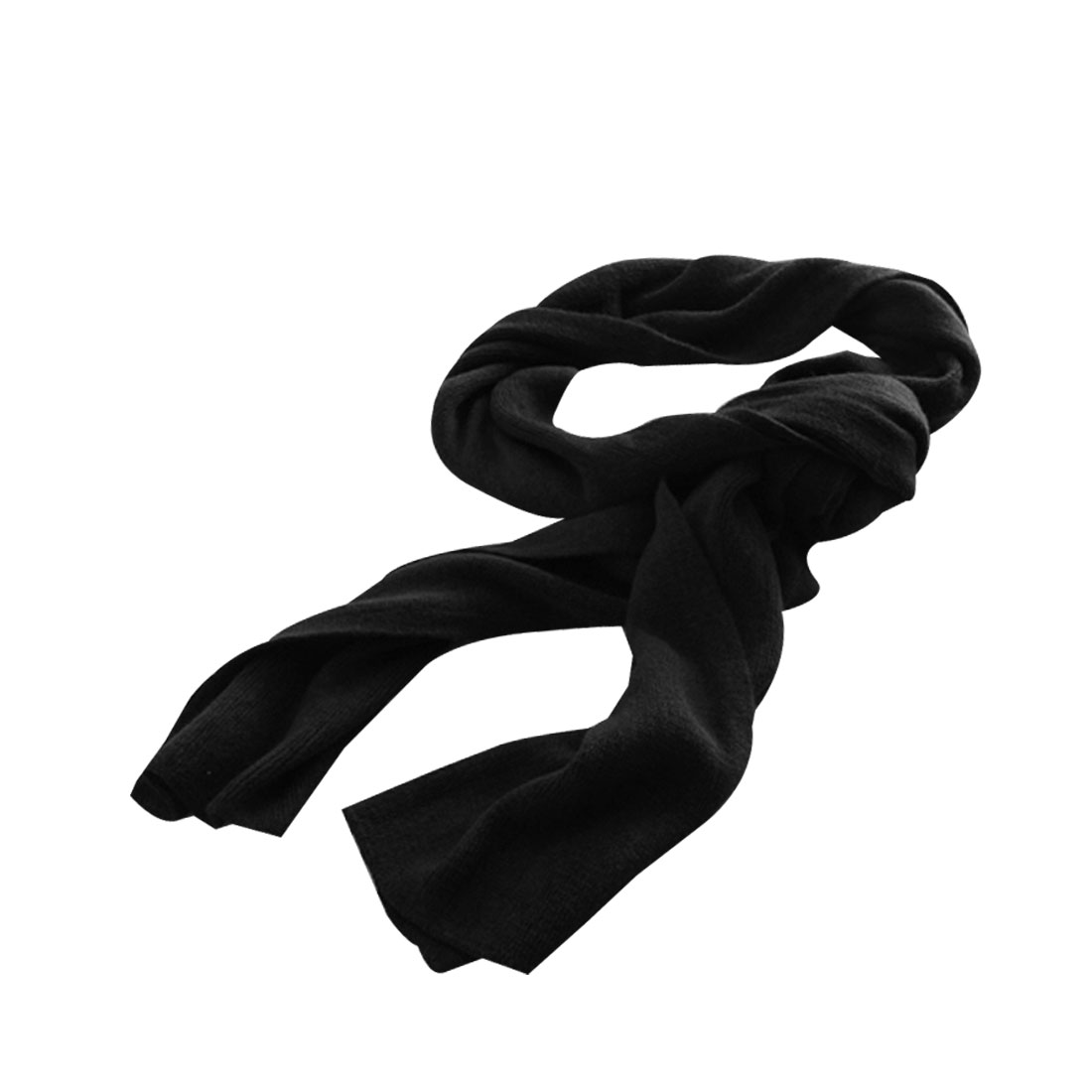 Mens 208cm x30cm Winter Warm Rectangle Winter Neckerchief Black
