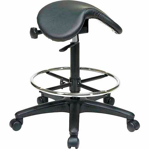 Office Star Work Smart Backless Saddle Seat Drafting Chair, Saddle