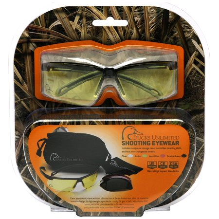 Shooting Eyewear Kit with Interchangeable Lenses, Includes four interchangeable lenses By Ducks