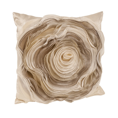 Saro Rose Throw Pillow