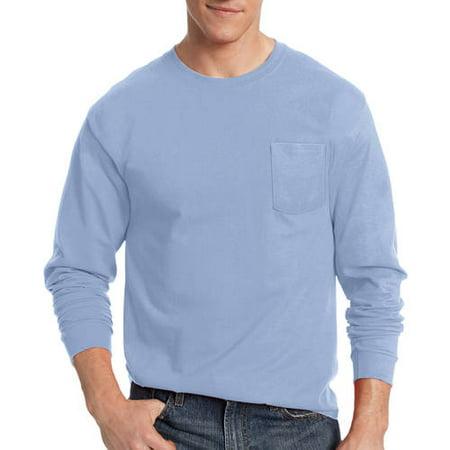 Hanes Big Men's Tagless Long Sleeve Pocket T-shirt - Walmart.com