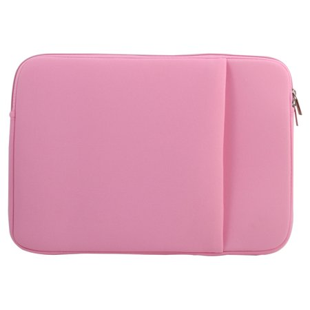 Neoprene Outer Pocket Design Laptop Sleeve Pink for MacBook Pro Air 12 Inch - image 4 of 4