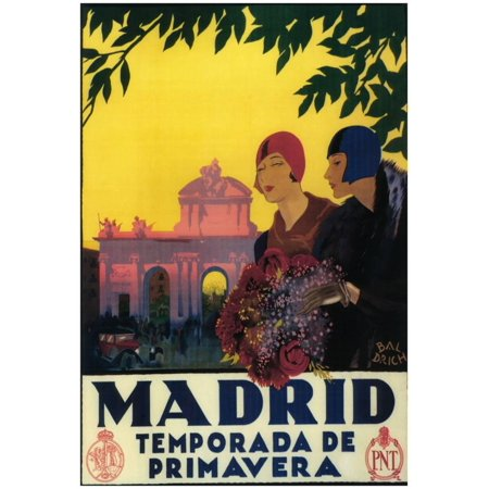 Madrid, Spain - Madrid In Springtime Travel Promotional Poster - 13x19 - Posters In Spanish
