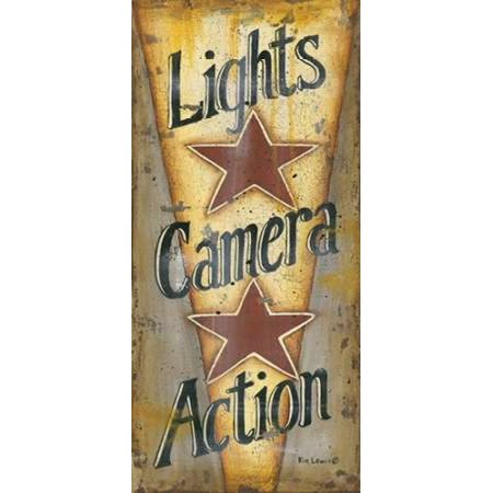 Lights-Camera-Action Poster Print by Kim Lewis
