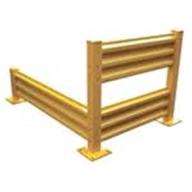 Vestil YGR-B-10 Bolt-On Style Guard Rail, Yellow - 10 ft.