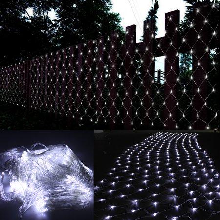 image 15ftx5ft 300 led curtain lights string net lighting connectable christmas white