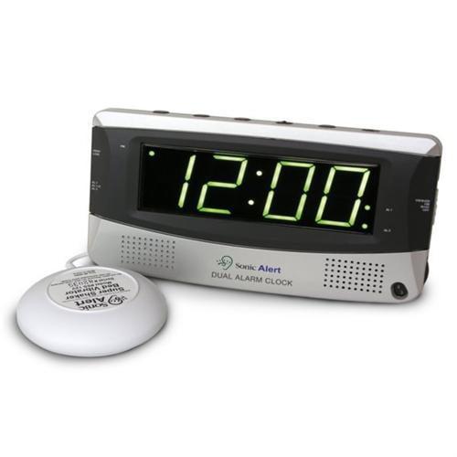 Sonic Alert Dual Alarm Clock w\/ Bed Shaker SA-SBD375SS
