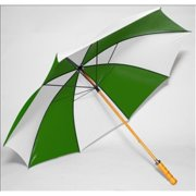 Frankford 2988WS-FW Wooden Shaft Golf Umbrella, Forest Green and White