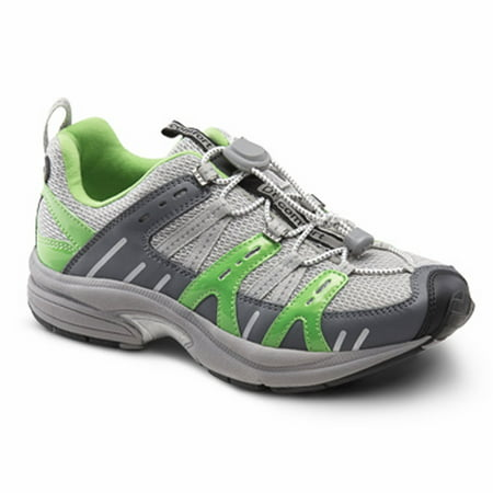 Dr. Comfort Refresh Women's Athletic Shoe: 4 X-Wide (E/EE) Green Elastic & Standard - Green Light Up Shoes
