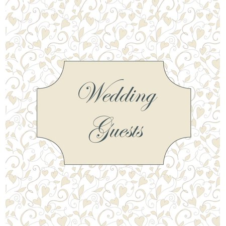 Vintage Wedding Guest Book, Love Hearts, Wedding Guest Book, Bride and Groom, Special Occasion, Love, Marriage, Comments, Gifts, Well Wish's, Wedding Signing Book (Hardback)](Groom To Bride Gift)
