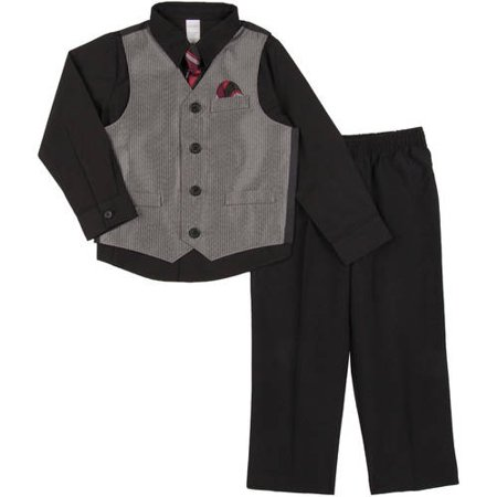 64eedeaed3c9 George - Toddler Boy 4-Piece Dressy Vest Set - Walmart.com