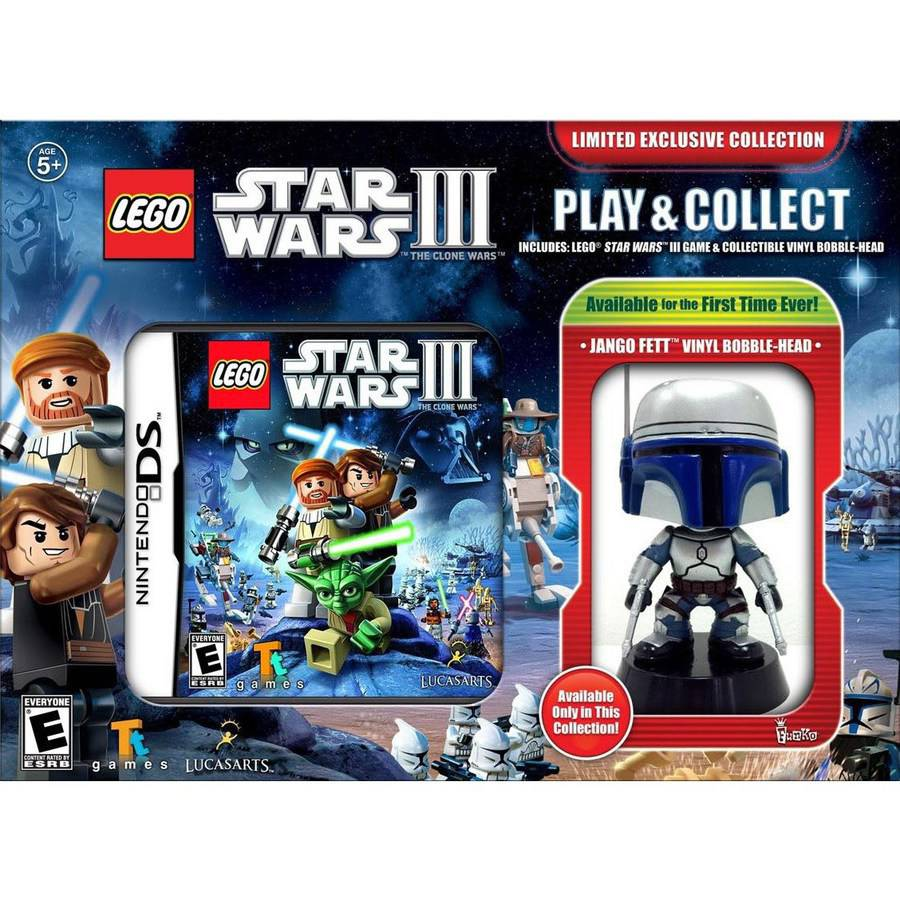 Lego Star Wars III The Clone Wars Limited Exclusive Collection - Nintendo DS - with Jango Fett Vinyl Figure