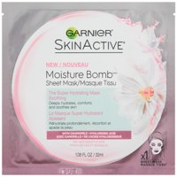 Garnier SkinActive Super Hydrating Sheet Mask, Soothing, 1.08 fl. oz.