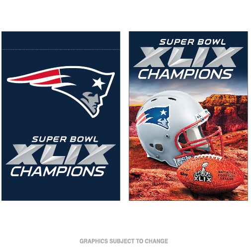 New England Patriots Official NFL 28 inch x 40 inch  Super Bowl 49 Champions Two Sided Banner Flag by Wincraft