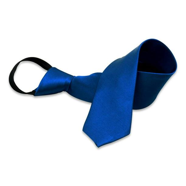 Boys Solid Color Zipper Tie 15 inch//19 inch Polyester Satin Zipper Neckties by Aurya