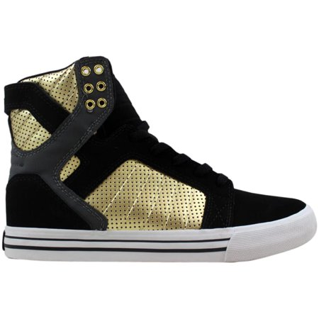 super popular e0d90 45866 Supra - Supra Skytop Black Grey-Gold-White S18195 Men s - Walmart.com
