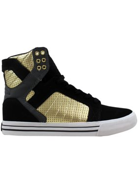 a08b5403f2 Product Image Supra Skytop Black/Grey-Gold-White S18195 Men's
