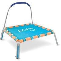 Pure Fun Kids Jumper 38-Inch Trampoline, with Handrail, Blue