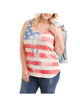 cb125684464 Product Image Women s Plus Graphic Hi Low Tank