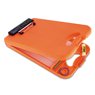 "Deskmate Ii W/calculator, 1/2"" Clip Cap, 8 1/2 X 12 Sheets, Hi-Vis Orange"