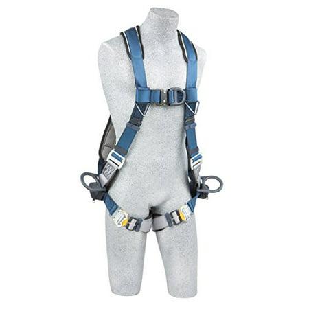 Full Body Harness, M, 420 lb., Blue/Gray