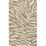 2' x 3' Exquisite Safari Sandy Brown and Light Gray Zebra Animal Print Area Throw Rug
