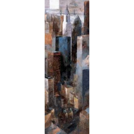 A View To Remember Ii   Chrysler Building Canvas Art   Marti Bofarull  12 X 36
