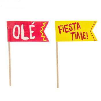 Fiesta Cupcake Toppers Cake South Western Party Supply Decoration 24 - Fiesta Cake Supplies