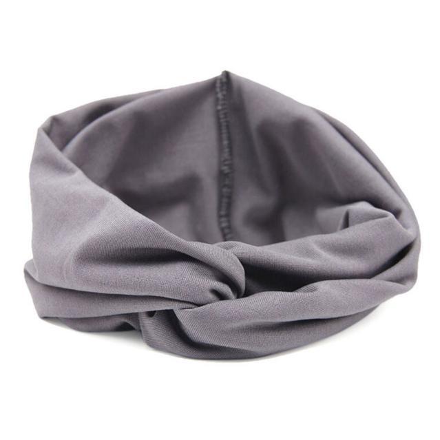 Women Headwear Cross Sport Yoga Cloth Headband Turban Headscarf Wrap BK