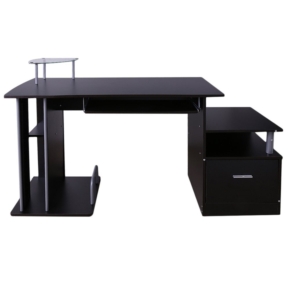 Computer Table On Sale, Office Laptop Table, Corner Desk With Drawer And Keyboard  Tray