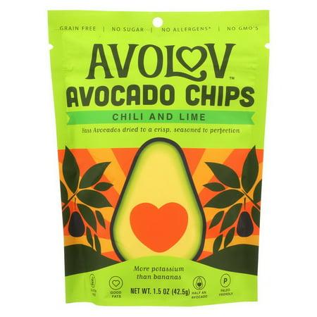 Avocado Chips - (Price/case)Avolov - Avocado Chips - Chili Lime - Case of 12 - 1.5 oz.