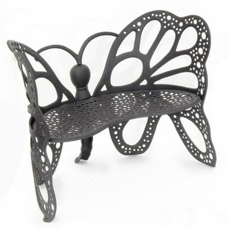 Flowerhouse Cast Aluminum Butterfly Bench ()