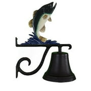 Montague Metal Products CB-1-30-NC Cast Bell With Natural Color Bass Ornament
