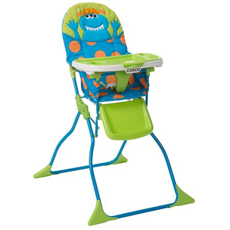 Simple Fold Deluxe High Chair with 3-Position Tray (Monster Syd)