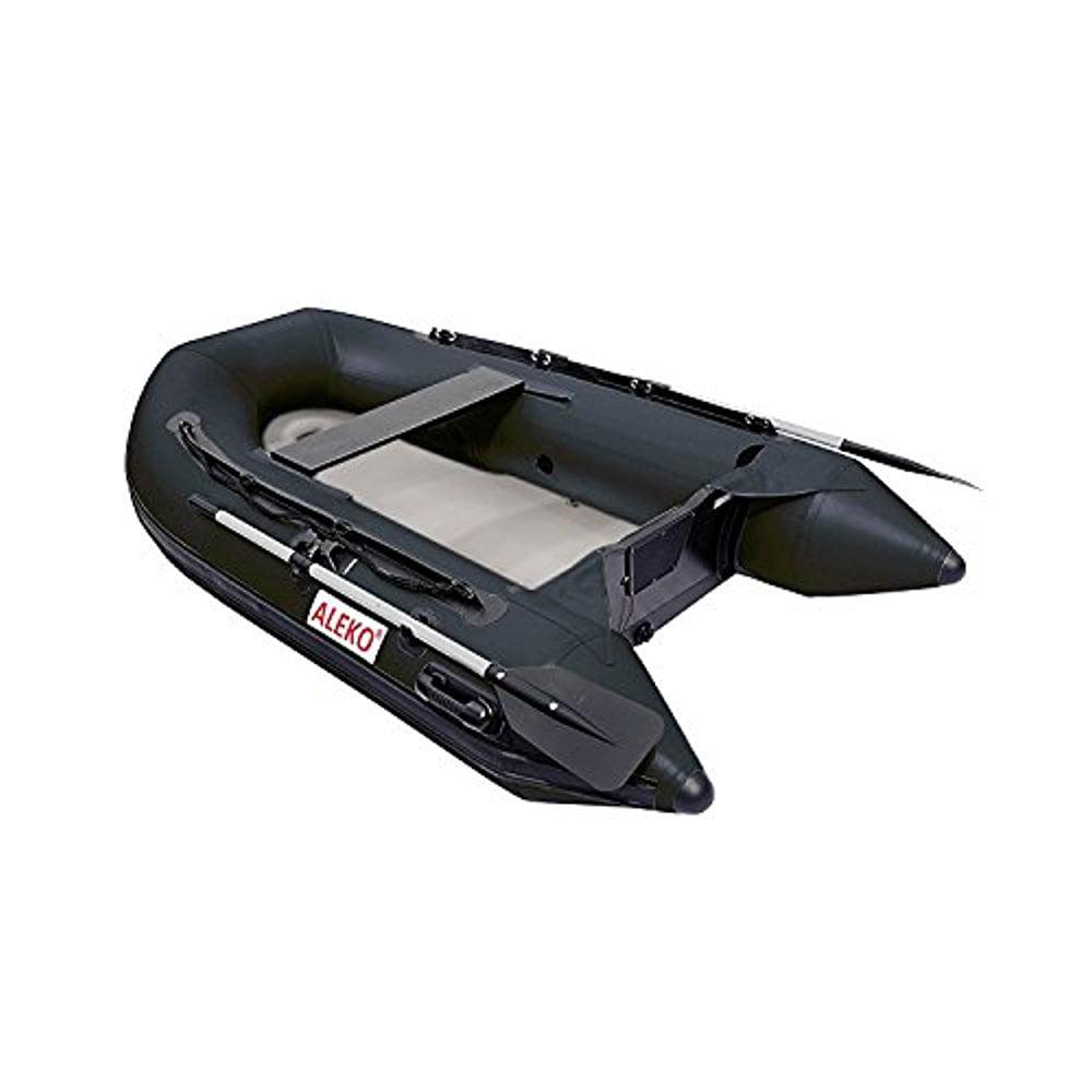 ALEKO Inflatable Air Floor Fishing Boat - 8.4 Foot - Black