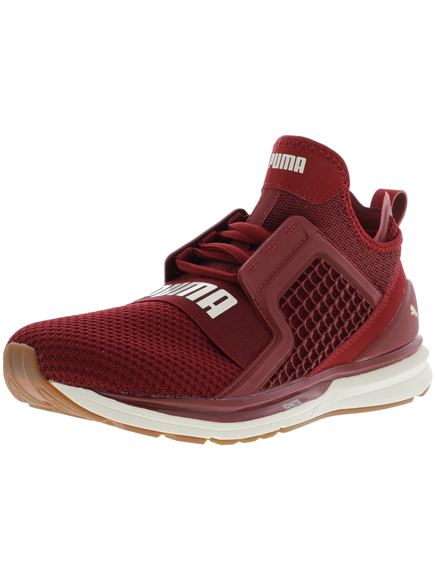 Puma Women's Ignite Limitless Weave Red Dahlia / Whisper White Ankle-High Training Shoes - 9.5M