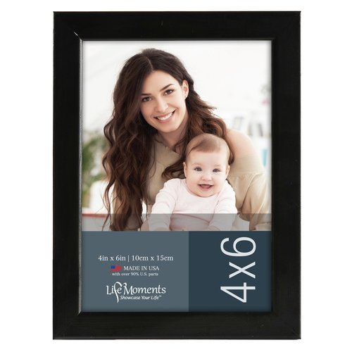 Gallery Solutions 4x6 Traditional Black Wood Wall Or