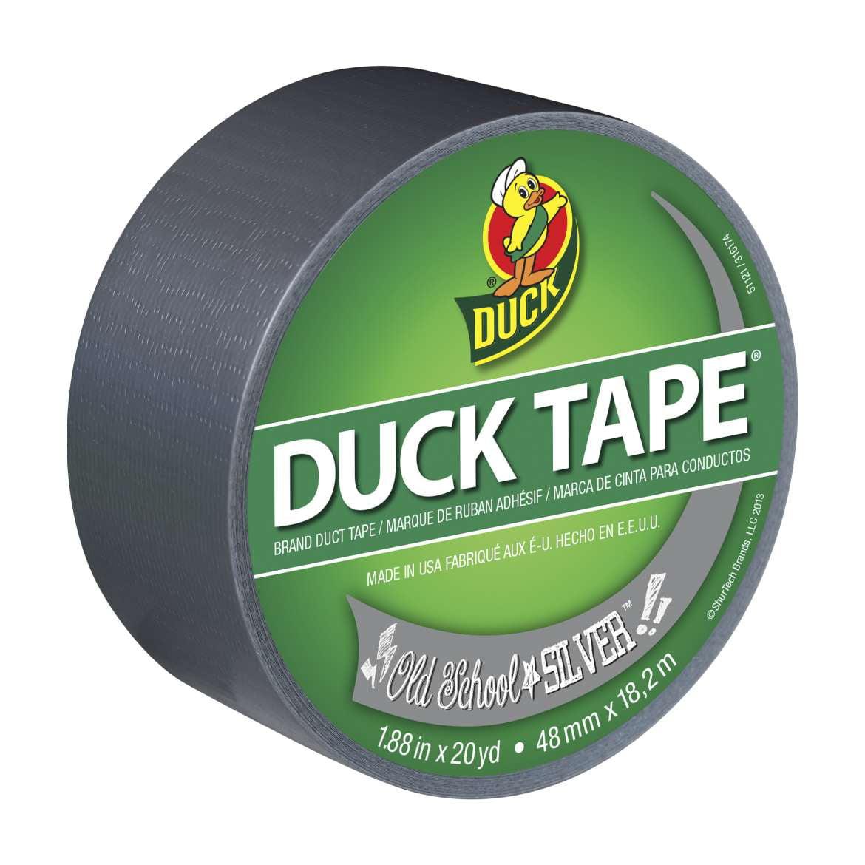 Duck Brand Duck Tape Roll Old School Silver 20yd