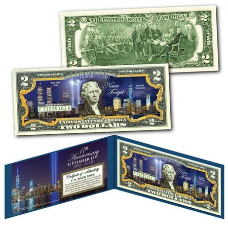 WORLD TRADE CENTER FREEDOM TOWER Night 9/11 WTC * 17th ANNIVERSARY * US $2 Bill](Alton Towers Halloween Night)