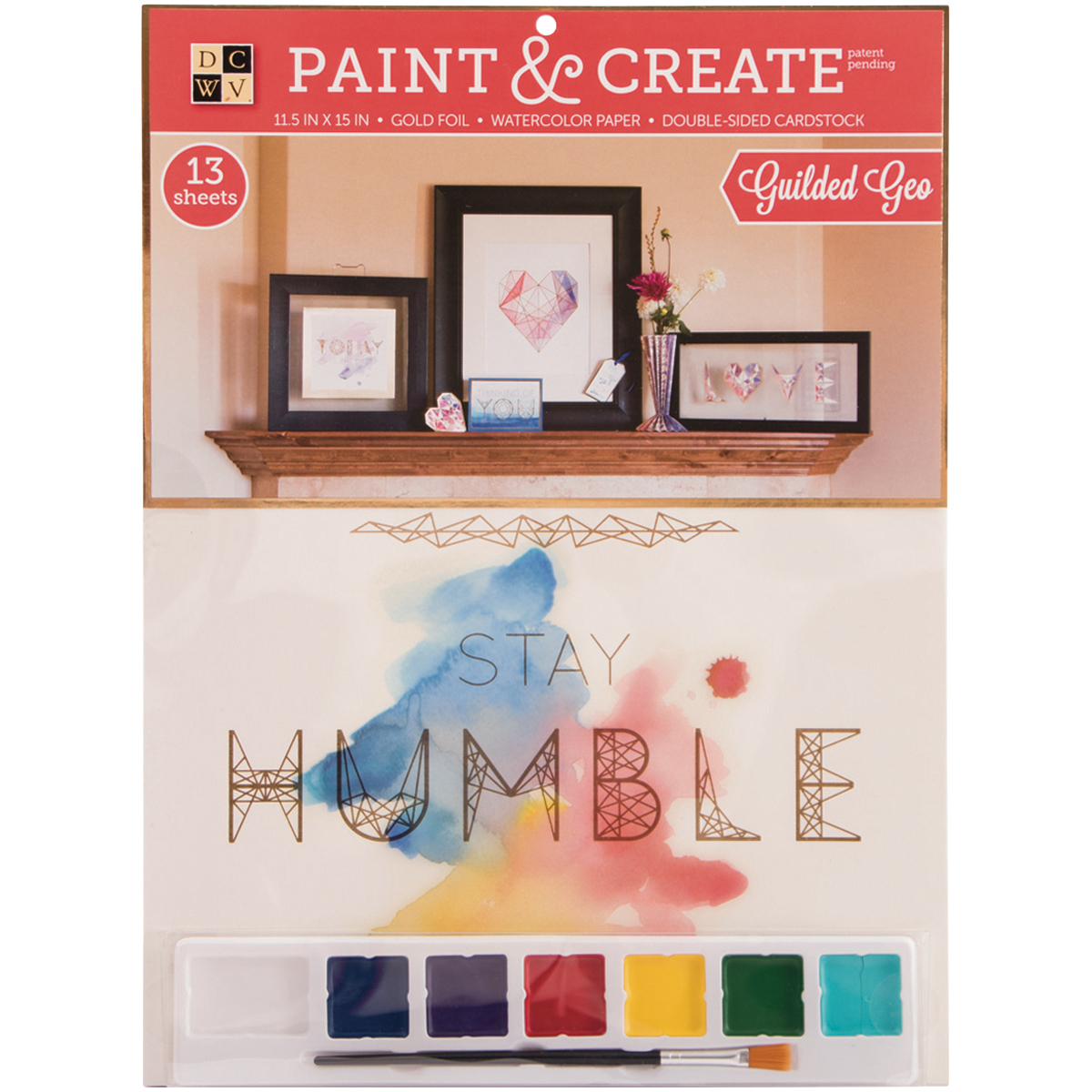 "Paint & Create Watercolor Kit, Assorted Designs Available, 11.5""X15"""