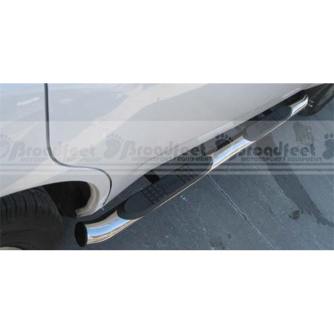 Broadfeet Motorsports Equipment SBAC-112-71 3 in. Stainless Steel Round Side Steps - 2007-2010, Acura-Mdx