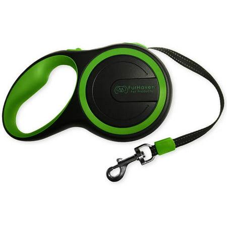FurHaven Pet Dog Leash | Comfort Grip Retractable Leash, Bright Green, 9-Feet