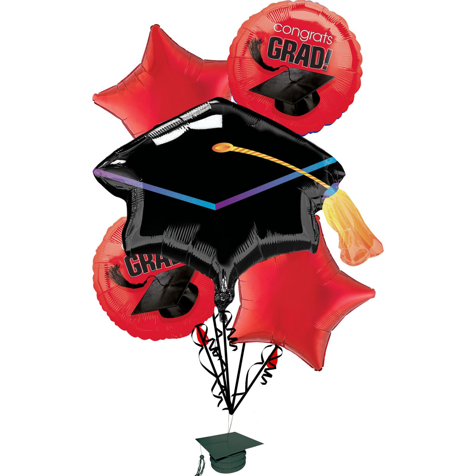 Anagram Congrats Grad School Colors Graduation 6pc Balloon Pack