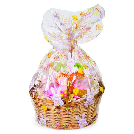 Creative Converting Cello Easter Basket Bag - Pre Filled Easter Baskets