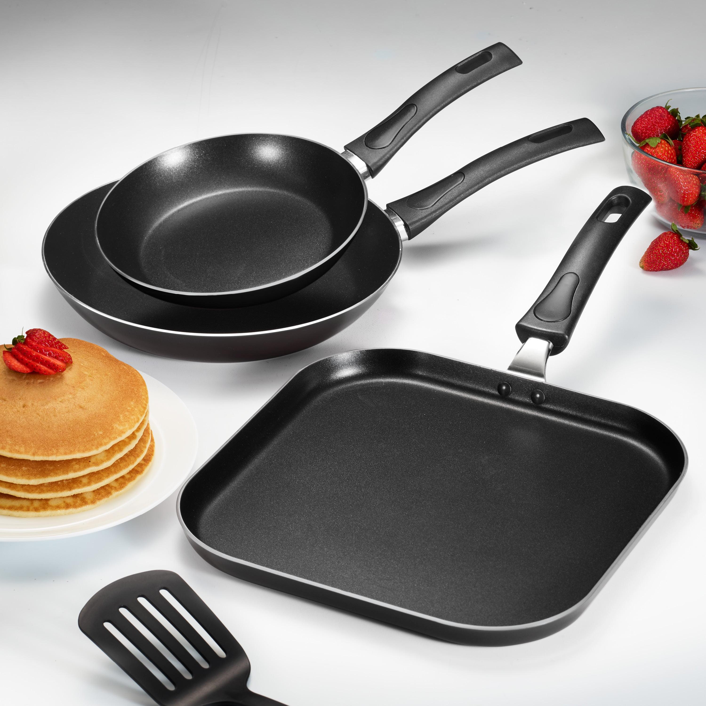 Tramontina 3 Pk EveryDay Black Nonstick Fry Pan/Griddle Set