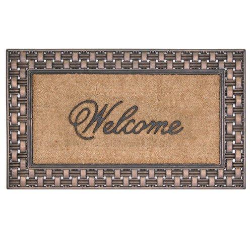 Coir Rubber Framed Double Door Basketweave Welcome Mat