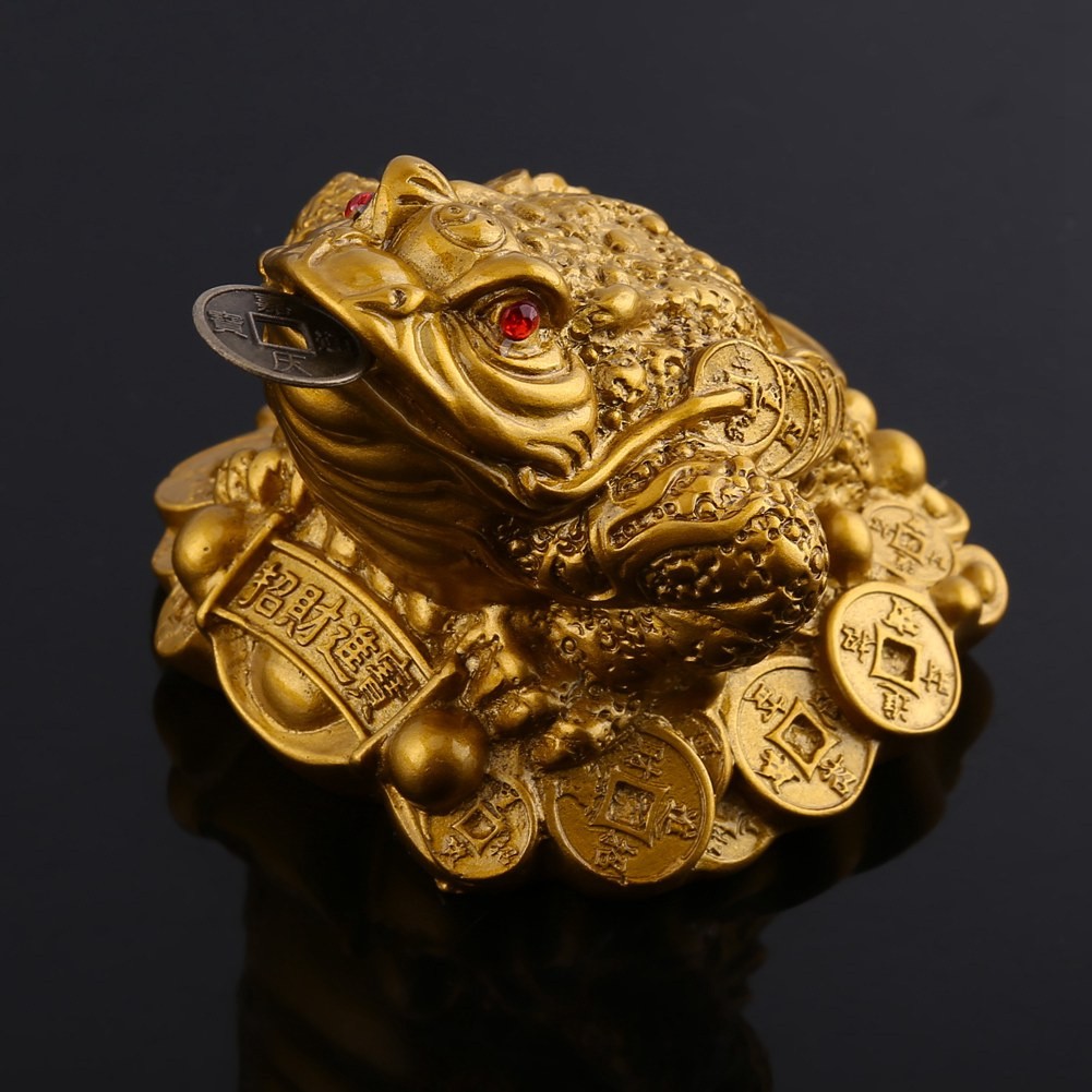 Chinese Fortune Frog Feng Shui Lucky Money Toad Home Office Decor